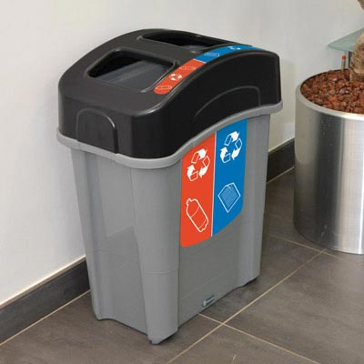 Pojemnik do recyklingu Eco Nexus® Duo 60 papier/plastik